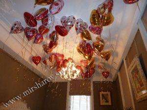 Стильное оформление комнаты на день рождение шарами в Москве