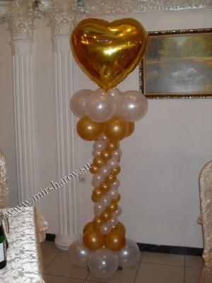 Стильное оформление комнаты на день рождение шариками в Москве