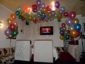 Красивое оформление комнаты на день рождение воздушными шарами срочно