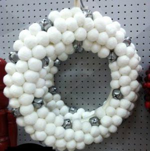 Красивый венок из шариков на Новый год недорого