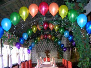 Тематическое оформление зала на день рождение воздушными шариками в Москве