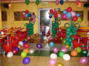 Красивое оформление зала на день рождение шарами в Москве