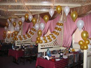 Современное оформление зала на день рождение шариками