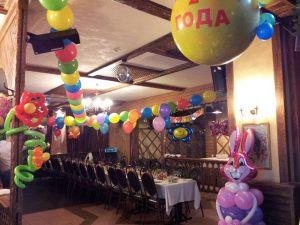 Недорогое оформление зала на день рождение шарами недорого