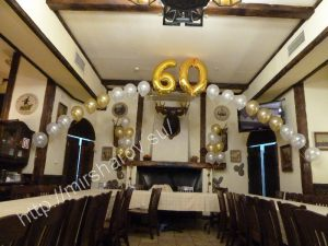Красивое оформление зала на день рождение воздушными шарами срочно